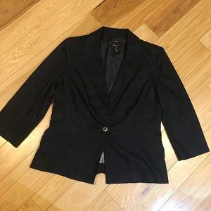 style & co. Dark denim colored blazer size 12